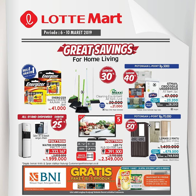 #LotteMart - #Promo #Katalog Hot Deals & Great Saving Periode 06 - 10 Maret 2019