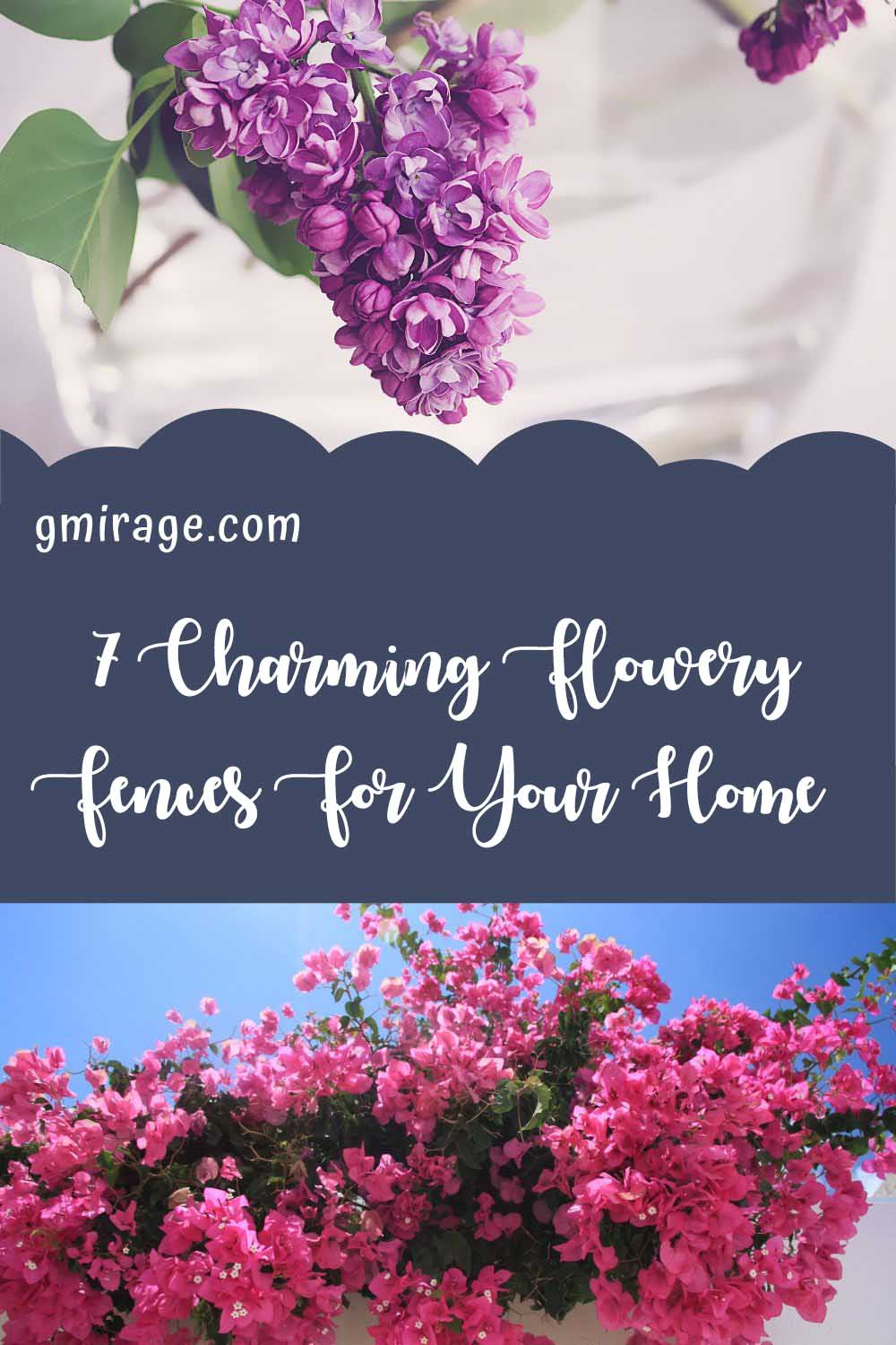 Charming Flowery Fences For Your Home, fence