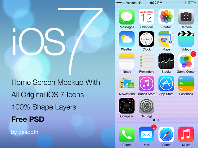 Iconos de ios 7 para photshop gratis jhon urbano for Ios splash screen template psd