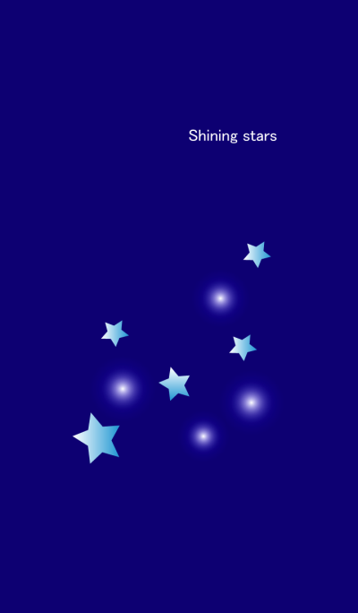 Shining stars in ultramarine color2