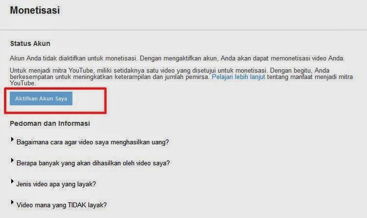 Cara Daftar Iklan PPC Google Adsense Melalui Youtube