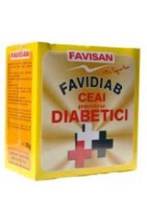 Ceai si sirop pentru diabetici – Favidiab