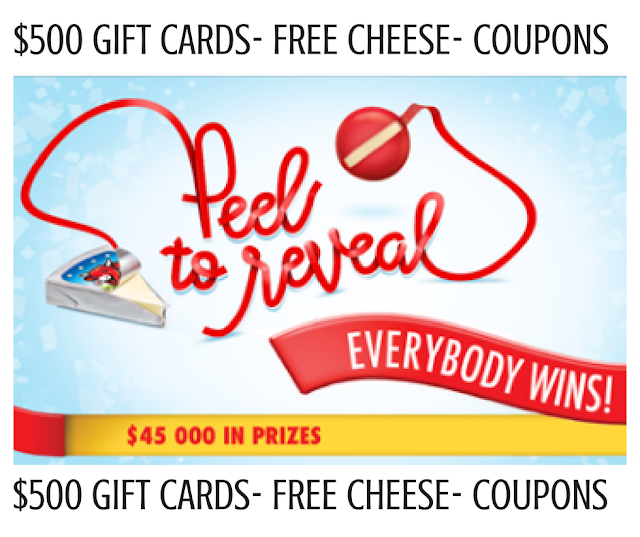 $45,000 in Coupons, Gift Cards & FREE Cheese To Be WON!