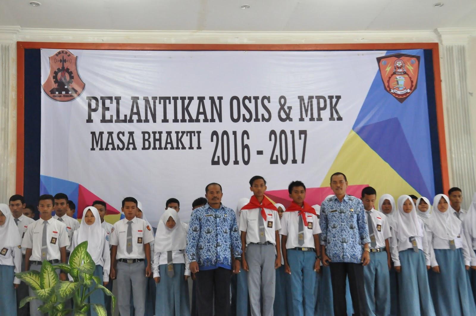 Pelantikan Pengurus Osis Periode 20162017