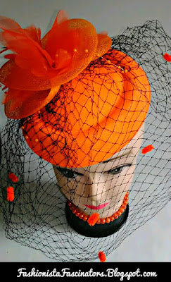 Orange fascinator hats for sale in Kenya