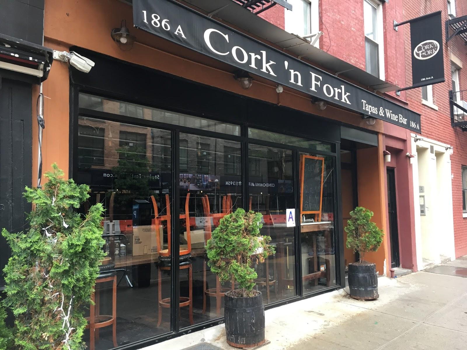 ev grieve: cork 'n fork is now gomi on avenue a