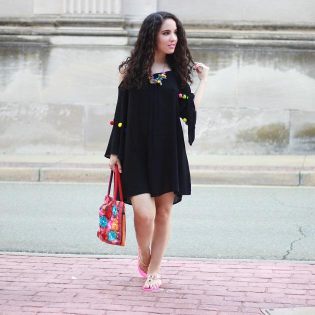 Make Me Chic Pom Pom Dress