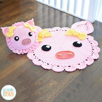 Pig Rug Crochet Pattern