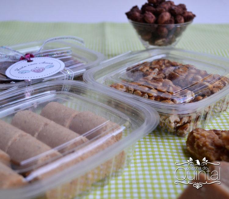 Doces juninos nas embalagens Galvanotek na Cozinha do Quintal