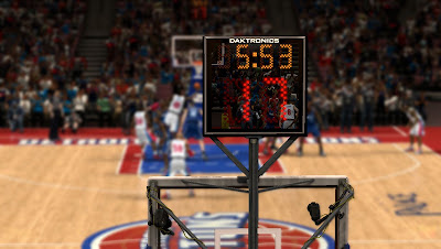 NBA 2K13 New Court Shot Clock Texture - Darktronics