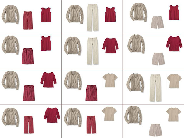 12 outfits from only 8 pieces of clothing