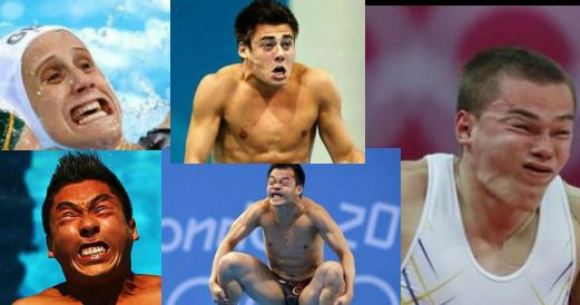 Las caras más divertidas de las olimpiadas