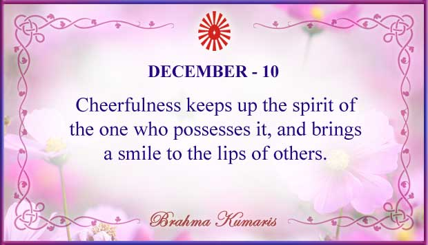 Thought For The Day December 10