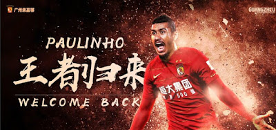 Após eliminação da Copa, Paulinho deixa o Barcelona e retorna ao Guangzhou Evergrande