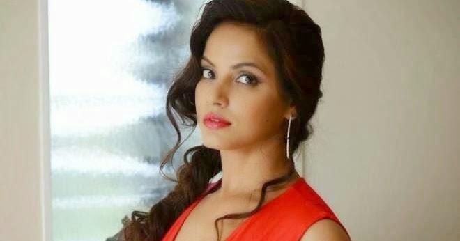 Neetu Chandra Hot In Red Dress