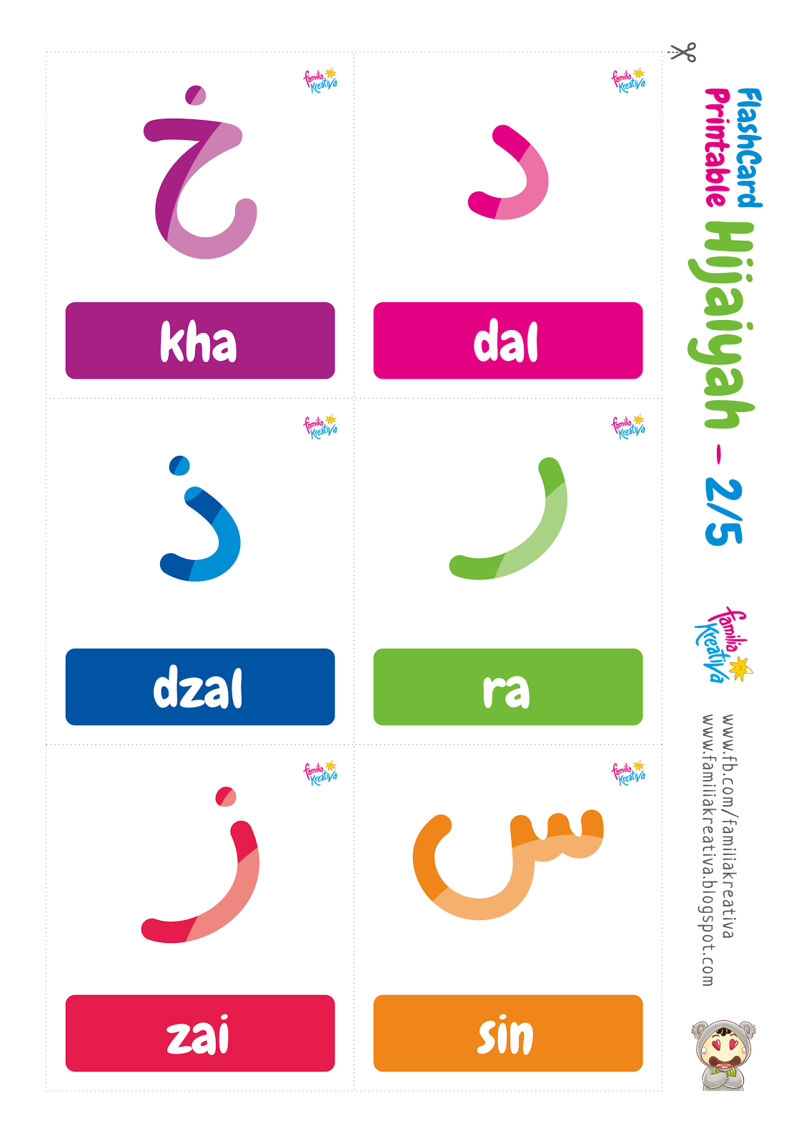 Download Gratis Flashcard Printable Hijaiyah