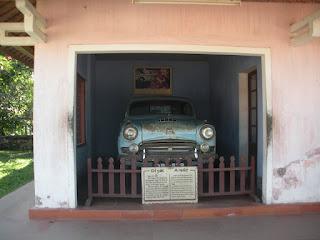 Auto monaco che è stato bruciato a bonzo - Linh Mu Pagoda - Hue - Vietnam
