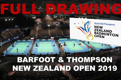 DRAWING Badminton BARFOOT & THOMPSON New Zealand Open 2019