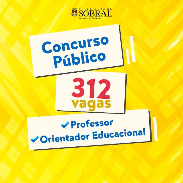 Resultado de imagem para Prefeitura de Sobral realiza concurso para Professor e Orientador Educacional