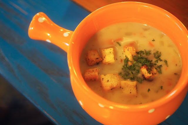 pipe district mushroom soup
