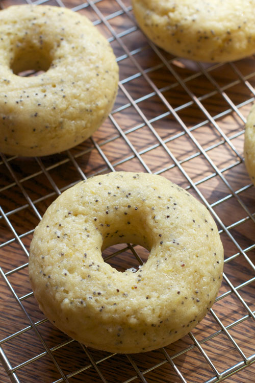 Baked Lemon Poppy Seed Donuts || A Less Processed Life