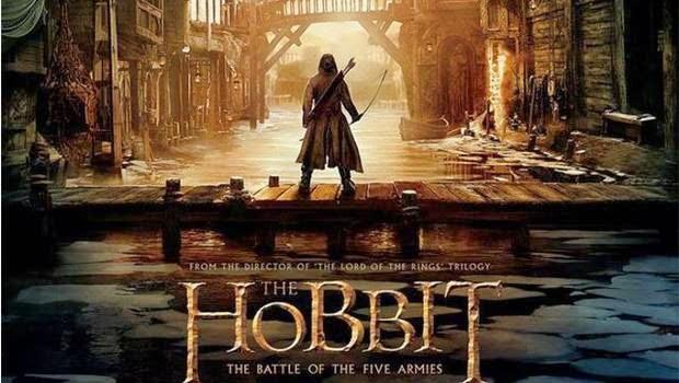 Cartel de la pelicula El Hobbit, la batalla de los cinco ejercitos