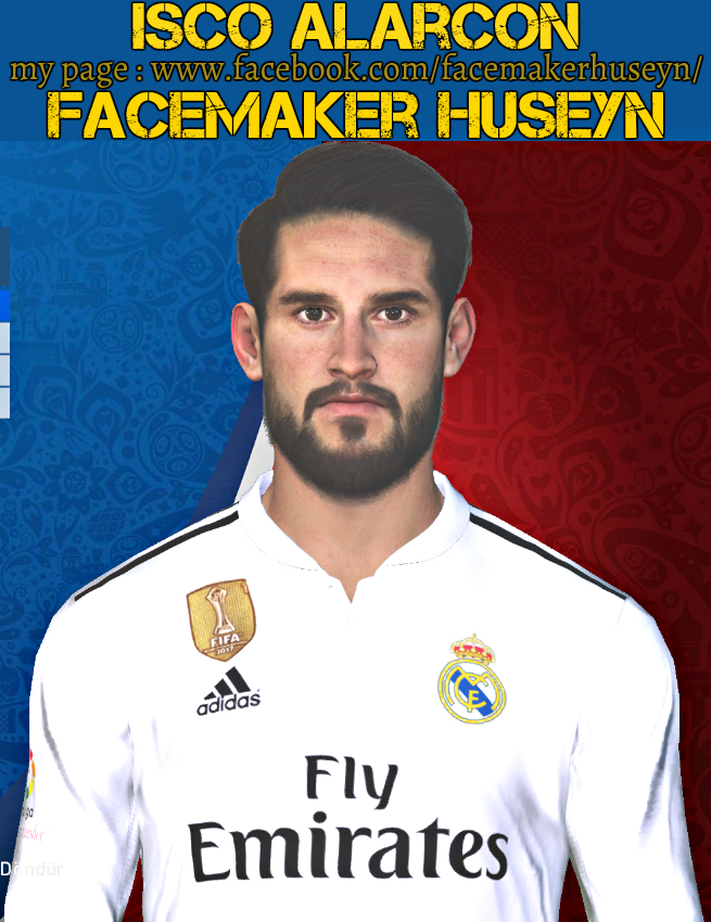 PES 2017 Isco Alarcon face by Facemaker Huseyn