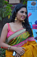 Actress Srushti Dange Latest Pos in Yellow Silk Saree at Saravanan Irukka Bayamaen Tamil Movie Press Meet  0003.jpg