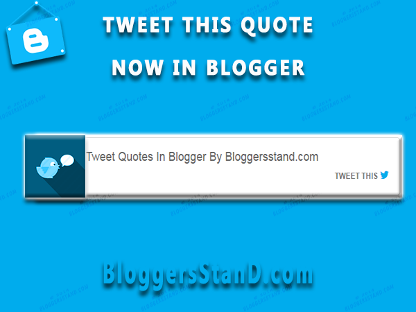 Install add tweet this quotes sentence paragraph in blogger posts template