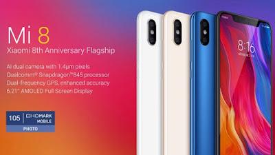 Daftar Harga dan Spesifikasi Xiaomi MI 8 Update