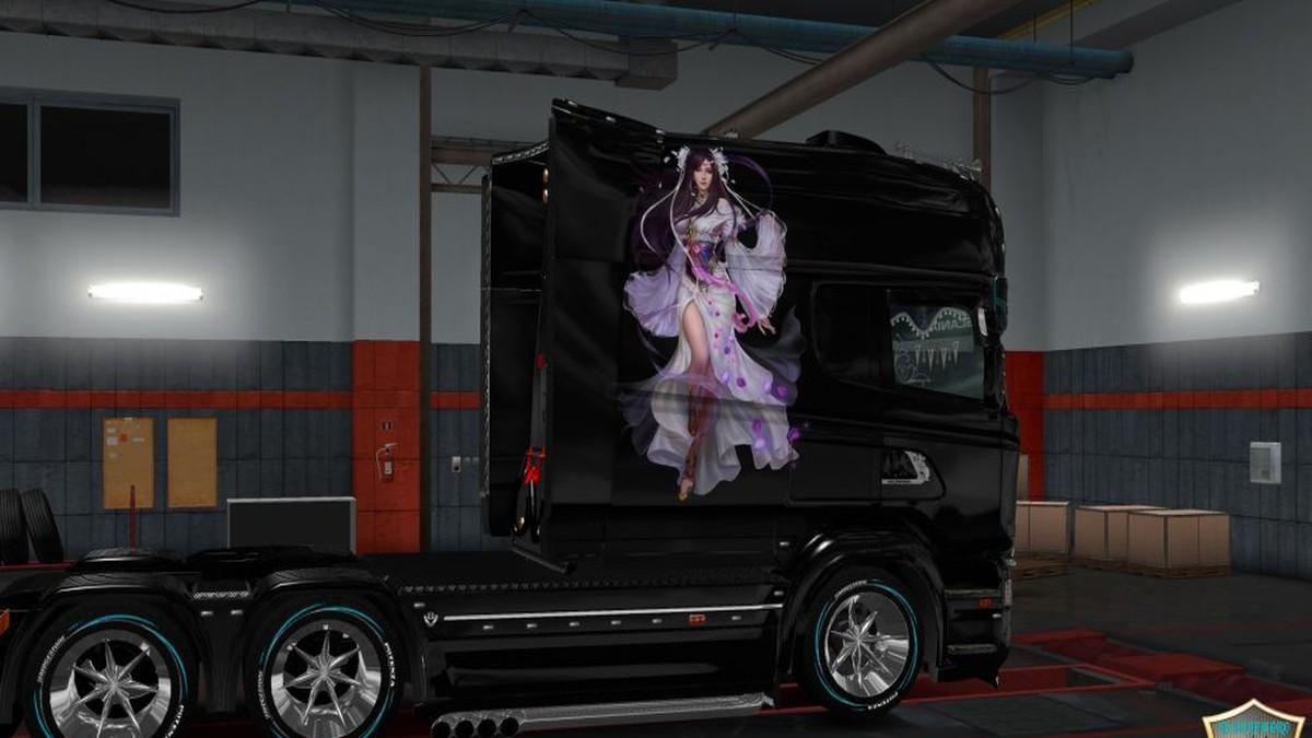 Scania RJL Girl V4 Skin