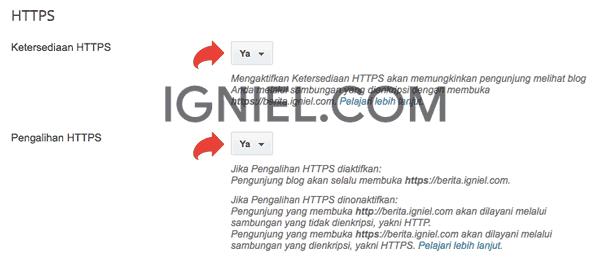 Aktifkan SSL (HTTPS) Gratis Untuk Subdomain Blogger