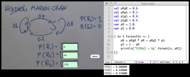 AI Class Hidden Markov Chain Scala Solution | Dave