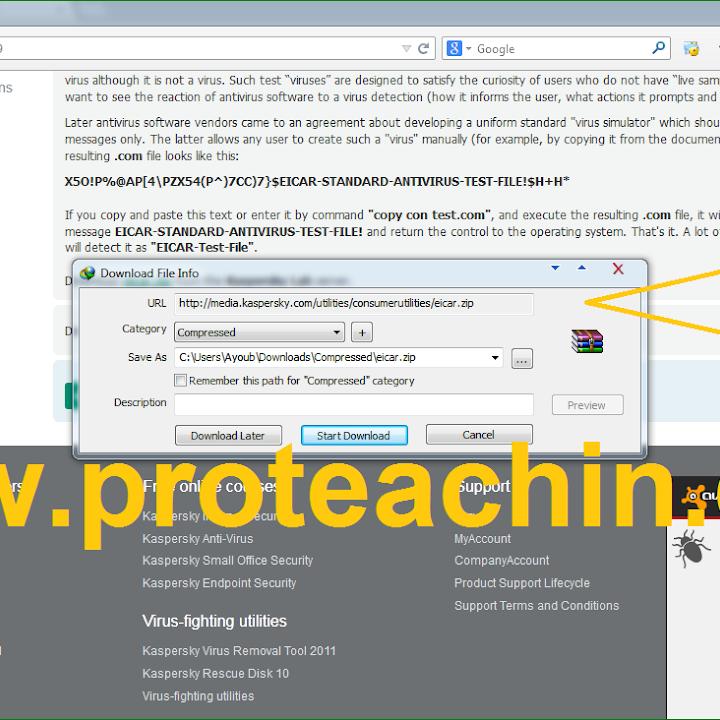 أفضل طريقة لإختبار قوة وحماية برامج الحماية ANTIVIRUS عبر