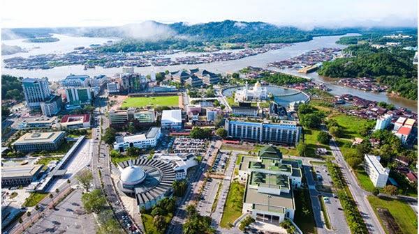 Bandar Seri Begawan Brunei Darussalam Public Clock Stock ...  |Bandar Seri Begawan Brunei Darussalam