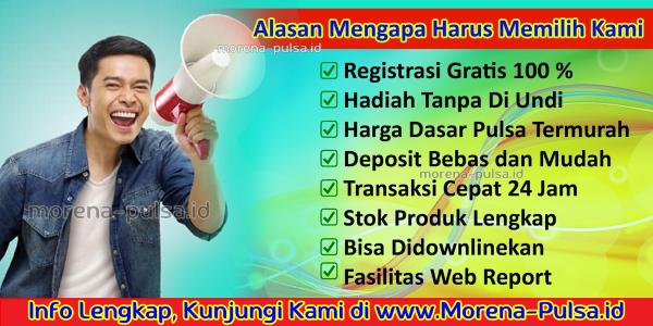 MorenaPulsa.net Web Resmi Morena Pulsa Anita Permata Sari CV JPS Termurah