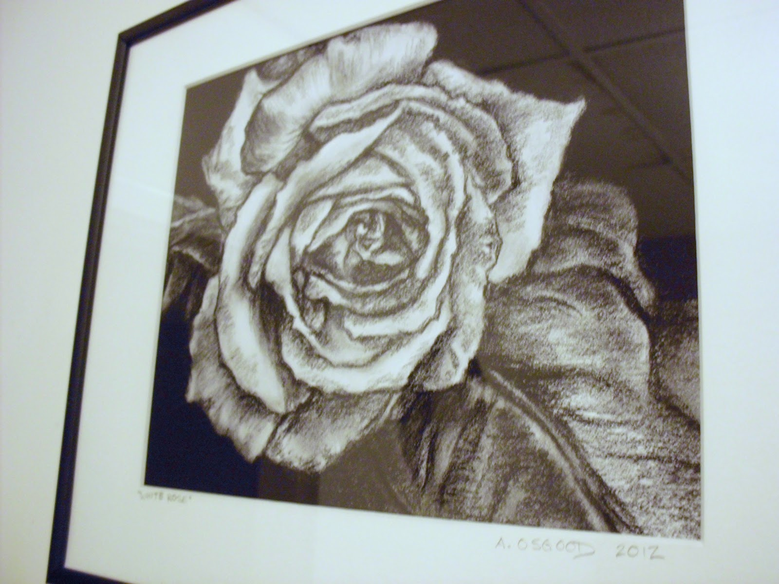 It's just a picture of Magic Charcoal Rose Drawing