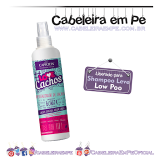 Spray Revitalizador De Cachos #Love Cachos - Capicilin Liberado para Low Poo