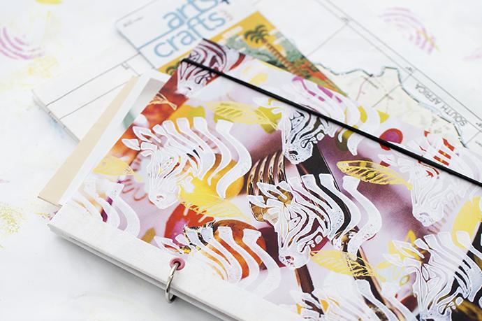 Reisebuch selber binden mit Buchringen und selbstbedrucktem Papier