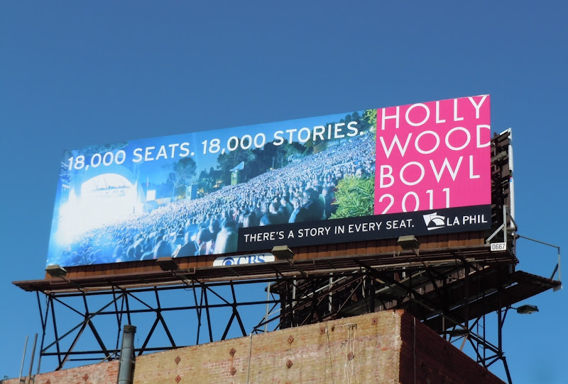 Hollywood Bowl 2011 billboard