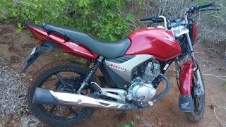 Moto é recuperada pela polícia no município de Sossego