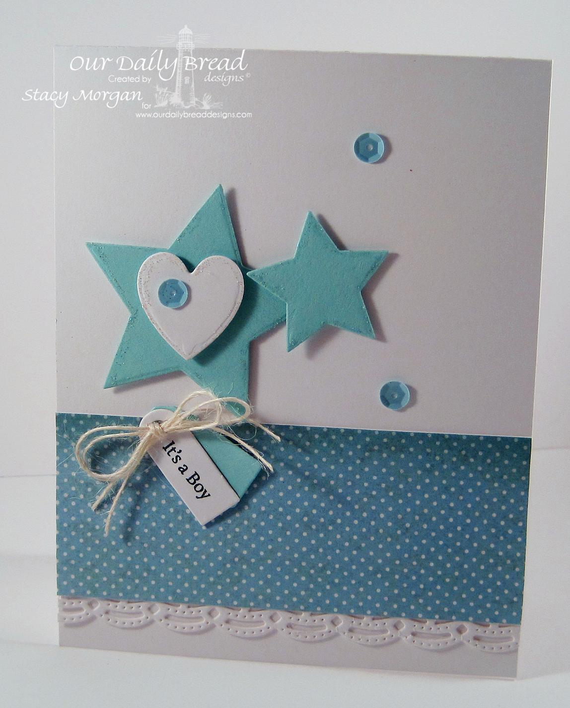 Stamps - Our Daily Bread Designs Mini Tag Sentiments, ODBD Custom Sparkling Stars Dies, ODBD Custom Beautiful Borders Die, ODBD Christmas Paper Collection 2014, ODBD Custom Mini Tags Dies