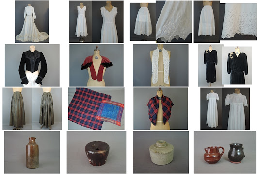 Victorian Clothing & Antique Pottery, in the etsy shop