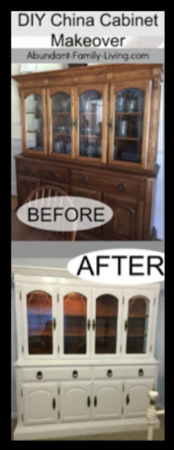 DIY China Cabinet Makeover