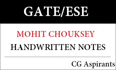 Download GATE And ESE Mohit Chouksey Mechanical Engineering Handwritten Notes Pdf