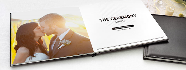 Need a wedding guest book idea? How about making a photo book from your engagement photos! Get all the details at www.abrideonabudget.com.
