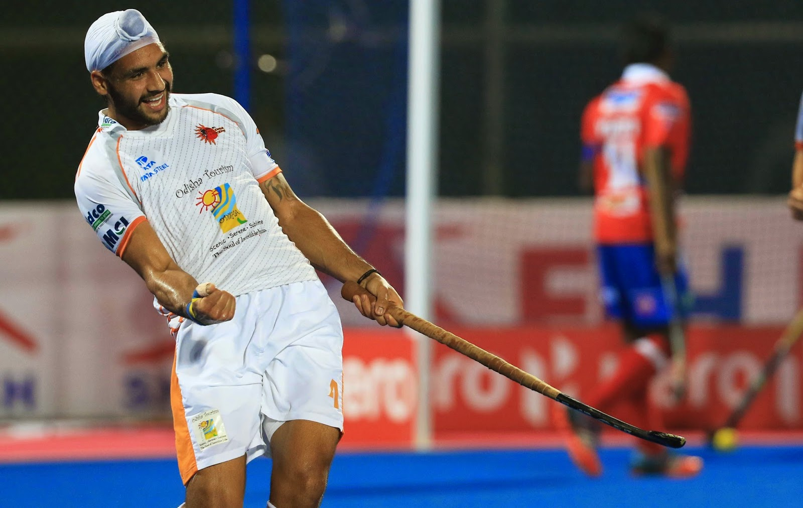 HHIL: Kalinga Lancers players in action after second goal against Mumbai