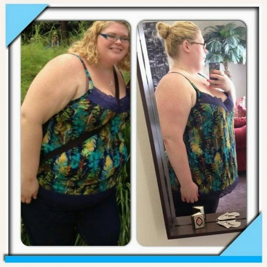Tiffany's before and after weight loss with Skinny Fiber results are amazing!