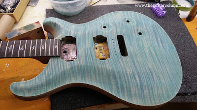 PRS Custom 24 turquoise stain