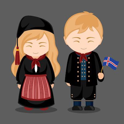 Pareja de islandeses el caracter islandes